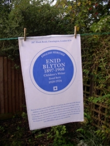 Blue Plaque tea Towel