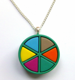 Trivial Pursuit Necklace